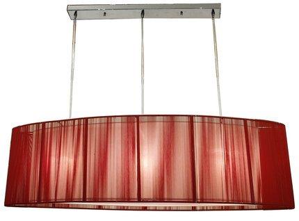 LAMPA SUFITOWA CANDELLUX WYPRZEDAŻ 33-10073 ARTEMIS ZWIS 3X60W E27 CZERWONY