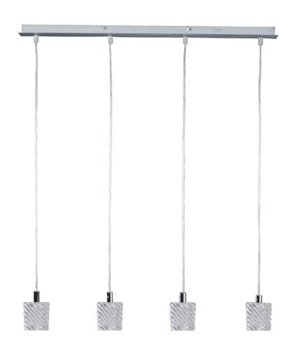 LAMPA SUFITOWA CANDELLUX WYPRZEDAŻ 34-16327 TOSCA ZWIS 4X40W G9 CHROM+KRYSZTAŁ