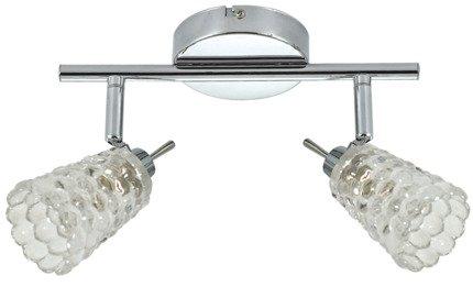 LAMPA SUFITOWA CANDELLUX WYPRZEDAŻ 92-03706 BACHUS LISTWA 2X40W G9 CHROM