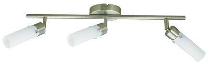 LAMPA SUFITOWA CANDELLUX WYPRZEDAŻ 93-14187 CONCORDIA LISTWA 3X9W E14 ENERGO NIKIEL MAT
