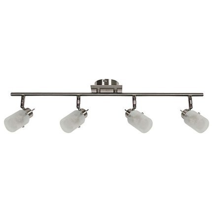 LAMPA SUFITOWA CANDELLUX WYPRZEDAŻ 94-22516 FROZEN LISTWA 4X40W G9 NIKIEL MAT