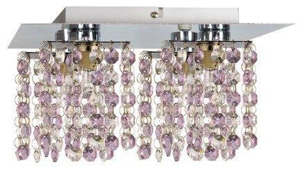 LAMPA SUFITOWA CANDELLUX WYPRZEDAŻ 98-63154 CLASSIC PLAFON 4X40W G9 FIOLETOWY