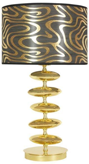 LAMPKA BIURKOWA CANDELLUX WYPRZEDAŻ 41-01061 FLORESSA LAMPKA GABINETOWA 1X60W E27 H-54 CZARNO ZŁOTA