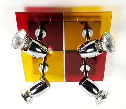 Lampa sufitowa czerwono-żółta Futura 94-01736