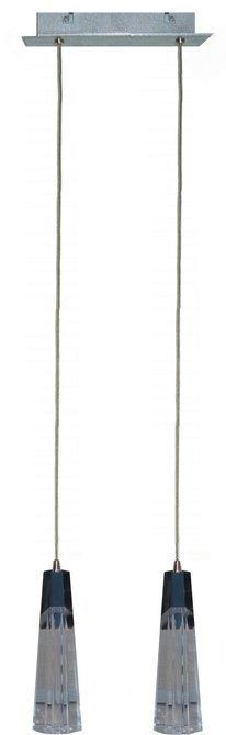 Lampa wisząca chrom regulowana szklany klosz 2xG4 20W Erica Candellux 32-18529