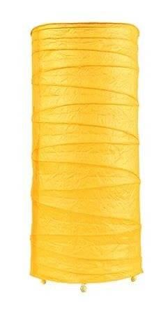 Lampka stołowa nocna papierowa żółta 40W E14 Buton Candellux 41-89390