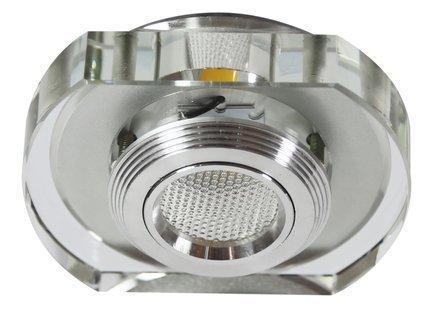 Oprawa stropowa bezbarwna zaokrąglona LED 3W 230V SS-34 Candellux 2228860
