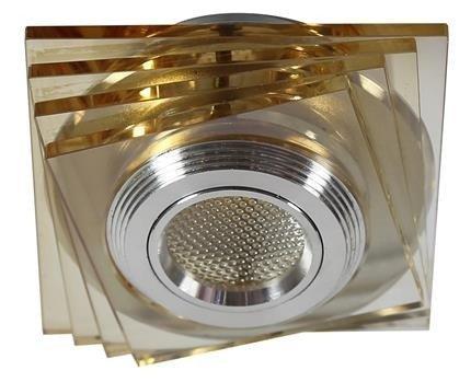 Oprawa stropowa bursztynowa LED 3W szkło kwadrat SS-32 Candellux 2228747