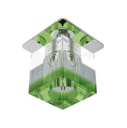 Oprawa stropowa chrom kryształ zielony pasek G4 20W SK-18 2280205