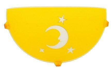 Plafon dziecięcy lampa ścienna księżyc żółty 11-30149