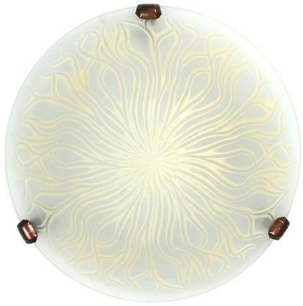 Plafon szklany okrągły beżowy 60W E27 lampa Terra Candellux 13-91935