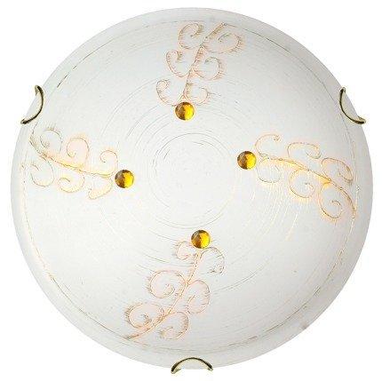 Plafon szklany złoty 60W E27 lampa sufitowa Asme Candellux 13-34529