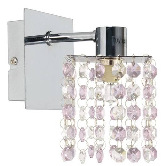 LAMPA ŚCIENNA CANDELLUX WYPRZEDAŻ 21-59256 CLASSIC KINKIET 1X40W G9 FIOLETOWY