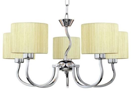 LAMPA SUFITOWA CANDELLUX WYPRZEDAŻ 35-12524 FLORENCE ZWIS 5X60W E27 KREMOWY