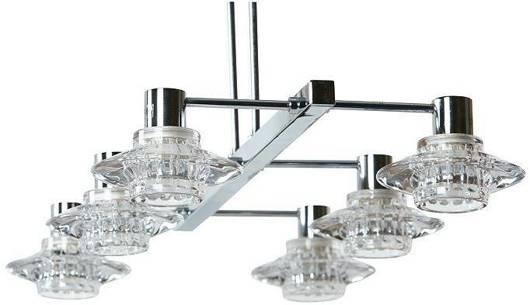 LAMPA SUFITOWA CANDELLUX WYPRZEDAŻ 36-01897 L&H RASTEK  ZWIS 6X40W G9 CHROM