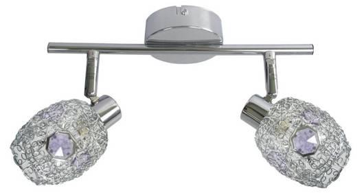 LAMPA SUFITOWA CANDELLUX WYPRZEDAŻ 92-56194 GOLDEN LISTWA 2X40W G9 CHROM FIOLETOWY