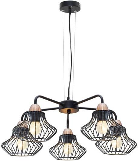 Lampa sufitowa wisząca 5x60W E27 czarny Alen Outlet Candellux 35-67043