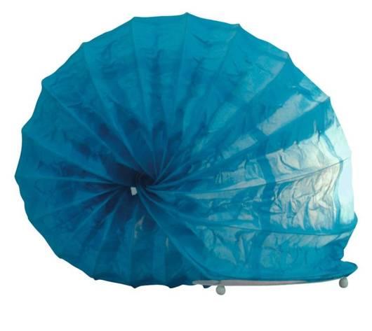 Lampka biurkowa papierowa nocna niebieska 40W Ślimak Candellux 41-88409