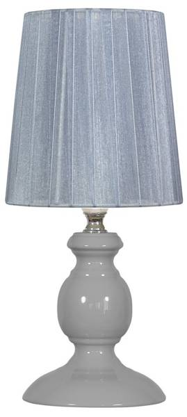 Lampka stołowa nocna szara E14 40W Alette Candellux 41-64103