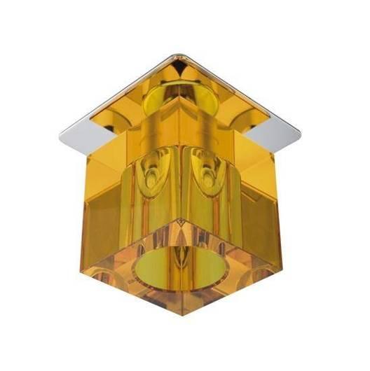 Oprawa stropowa kryształ pomarańczowy/chrom G4 20W SK-19 Candellux 2280021
